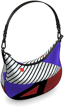 The Fashion Access Neo Memphis Patches Stickers Curve Hobo Bag