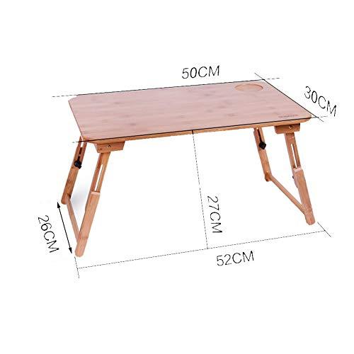 AI LI WEI levend kantoor/eenvoudige tafel laptop computer staan draagbare staande plank Lapdesks massief hout multifunctioneel opklapbed eettafel bamboe, hout kleur 5 (kleur: 70x45 cm vaste poten)