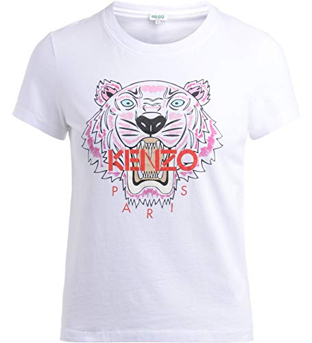 Kenzo Tiger Damen Weiß T-Shirt (XL)