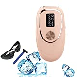Depilación láser IPL para mujeres, dispositivo depilador permanente con enfriamiento con hielo, 999,999 flashes, removedor de vello indoloro para rostro, piernas, brazos, axilas, cuerpo, uso doméstico