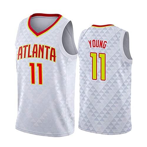 GFQTTY Camiseta De Baloncesto, Atlanta Hawks # 11 Swingman Jersey Camiseta Deportiva De Malla Transpirable Bordada Resistente Al Desgaste, Chalecos De Secado Rápido Tops