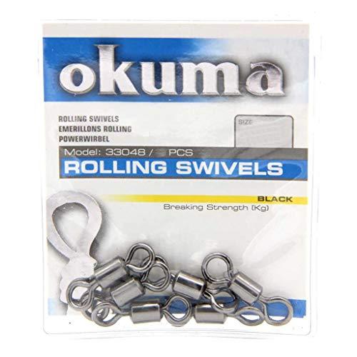 Okuma Rolling emerillones Tamaño 2negro–8