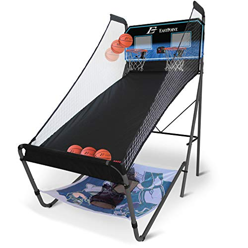 EastPoint Sports 3-in-1 Shoot, Pitch, Pass (Indoor Basketball, Football, and Baseball) Gaming Center
