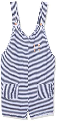 Roxy Surfing Free Combi Short Fille, Medieval Blue Cosy Stripes Swi, FR (Taille Fabricant : 14/XL)