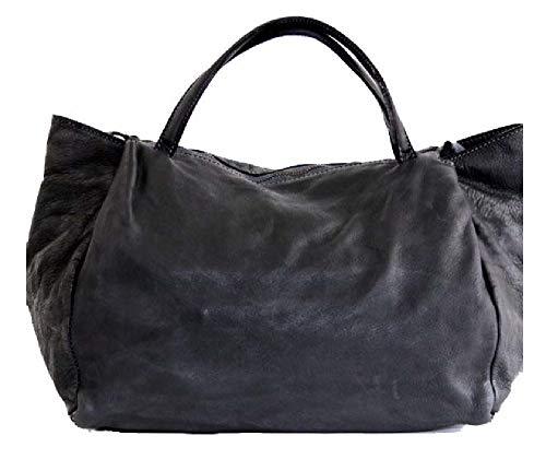 BZNA Bag Diana schwarz nero Italy Designer Damen Handtasche Schultertasche Tasche Leder Shopper Neu