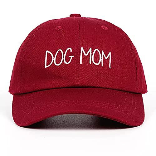 QiuFeng Gorra béisbol Hiphop Sun Hat Gorra de béisbol Bordada para Perro mamá Enfermera papá día de la Madre Personalizado Conejo Embarazada Hija Moda Curvada Ajustable Plegable Regalos cumpleaños