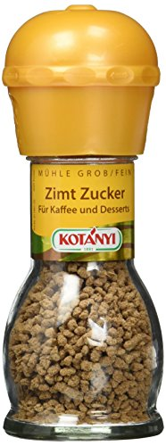 Kotanyi Zimt Zucker Mühle, 2er Pack (2 x 37 g)
