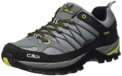 CMP – F.lli Campagnolo Rigel Low Trekking Shoe WP, Zapatillas de Senderismo para Hombre, Gris Cement Lime 40te, 39 EU