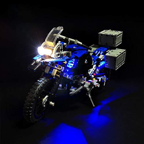 HYZM LED Beleuchtungsset Licht Set für LEGO Technic BMW R 1200 GS Adventure, Beleuchtung Licht Set für Lego Technic 42063 (Nur LED Licht, Ohne LEGO Kit)