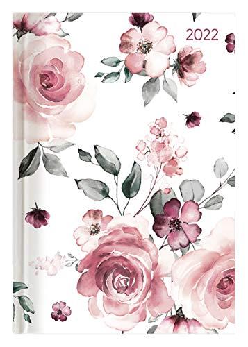 Alpha Edition - Agenda Giornaliera Style 2022, Formato Grande 15x21 cm, Rose, 352 pagine
