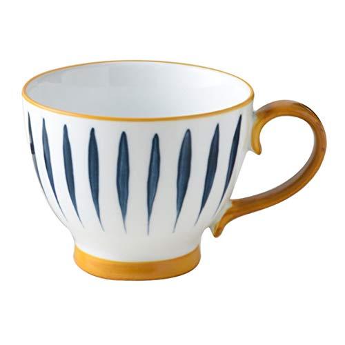 500 ml con patrón de cerámica taza de avena desayuno taza de café de gran capacidad agua hogar oficina tarde té taza (patrón 1)