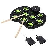 Niños Instrumentos de Juguete Conjunto portátil de batería electrónica for niños de los niños Regalo para niños y niñas (Color : Green, Size : Ones)