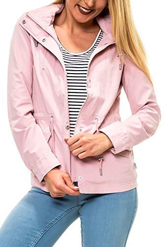 ONLY Damen Parka Übergangsjacke mit Kapuze Kapuzenjacke Kurzmantel (XL, Pink Nectar)