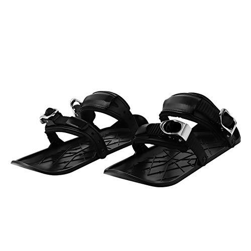 Mini esquís zapatos de esquí al aire libre raquetas de nieve esquí trineo antideslizante paneles de pie ajustables equipo de deportes de invierno para hombres mujeres adultos 13,7 x 36 x 3 cm