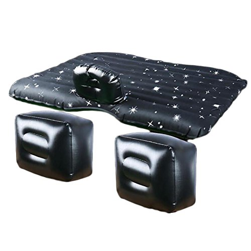 MIAO Matelas gonflable de coffre de SUV de lit de voyage de matelas de voiture de PVC de fente avec la pompe gonflable , black