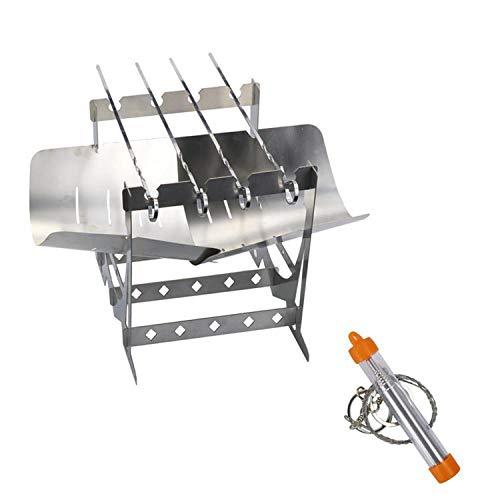 xfyx Tragbarer Holzkohlegrill, klappbarer Campinggrill geeignet, Grillwerkzeug-Set, geeignet für Picknick, Innenhof, Garten, Camping, Kochen