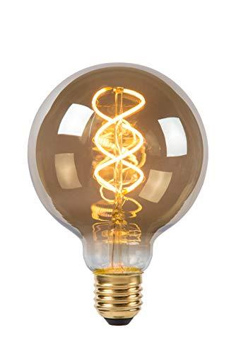 Lucide LED Bulb - Glühfadenlampe - Ø 9,5 cm - LED Dim. - E27 - 1x5W 2200K - Rauchfarbe Grau