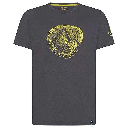 LA SPORTIVA Cross Section T-Shirt M für Herren, Herren, Unterhemd, N07900713, Carbon/Kiwi, M