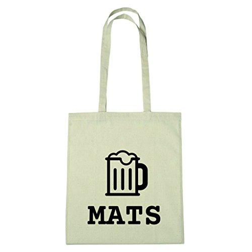 JOllify Baumwolltasche - Happy Birthday für MATS - Bier Gruß
