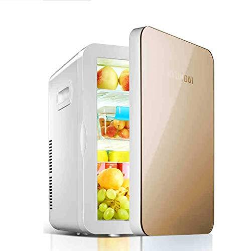 Mini réfrigérateur électrique Refroidisseur et réchaud 12V 220V pour Voiture et Maison 20L Portable réfrigérateur de Voiture réfrigérateur pour Voyager et Camper (Couleur : Or)