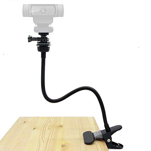 Webcam Tischhalterung,Flexible Klemme Schwanenhals Halterung für Logitech Webcam Brio 4K c925e C922x C922 C930e C930 C920 C615–38cm