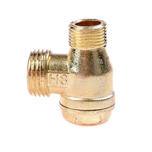 90 Graden DIY 3 Port Brass Central Pneumatische Ventielen, Air Compressor Terugslagklep Thread Thuis Gereedschap