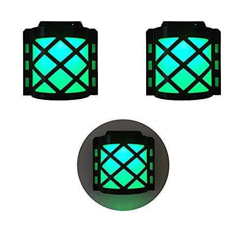 Kemini 2 lámparas solares LED para exteriores de patio o patio