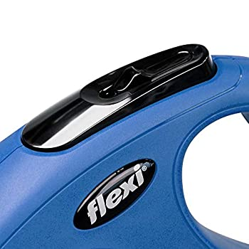 FLEXI New Classic Laisse Rétractable, Extra-Small, Sangle,3m, Bleu