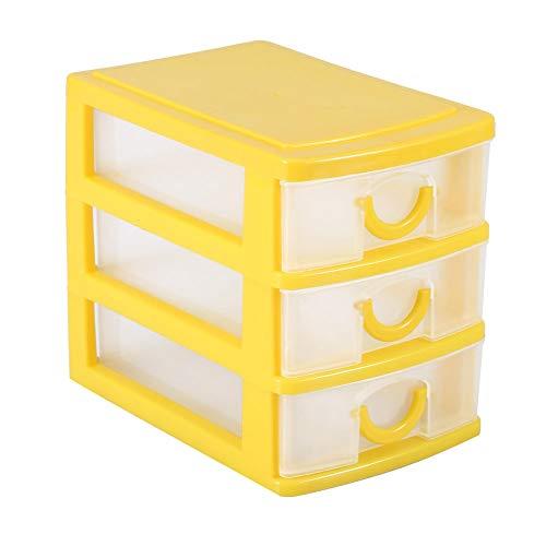 Mini Drawer Organizer, Small Storage Stackable Drawers, Mini Desktop Organizer Plastic Jewelry Organizer Small Makeup Storage Box with Adjustable Detachable Dividers for Small Accessories (#4)