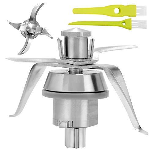 Gruppo Coltelli Compatibile per Vorwerk Bimby TM21, Ricambi Bimby TM21 per Robot da Cucina Bimby Vorwerk, con 4 Lame in Acciaio Inox, con 2 Spazzoli per la Pulizia, ZITFRI