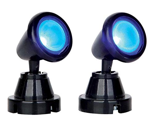 Lemax - Round Spot Light, Blue, Set Of 2, B/O (4.5V)