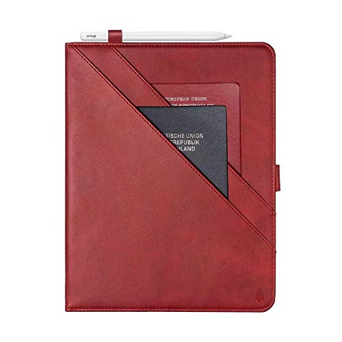 RZL PAD & TAB cases For iPad Pro 12 9 12.9, New Card Wallet Flip Tablet Case PU Leather Stand Cover Shockproof Case for iPad Pro 12 9 12.9 2020 4th gen 2017 2015 2018