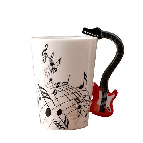 Amody Kaffeebecher aus Keramik mit Henkel Teetasse Weiß Kaffeetassen 250ml Tasse mit Henkel für Heißgetränke