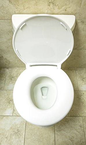 Big John 6-W Oversized Toilet Seat with Cover – For Round Or Elongated Toilet Bowls – Weight Capacity 800 Pounds – White
