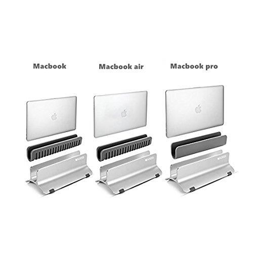 Vertical Laptop Stand, LOCA Aluminium Desktop Stand for Apple MacBook, notebooks (Silver) Photo #6