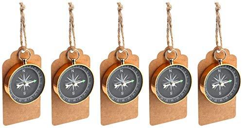 TOYMYTOY 10 Stück Kompass Anhänger Dekorationen Portable Geburtstag Hochzeit Party Favors