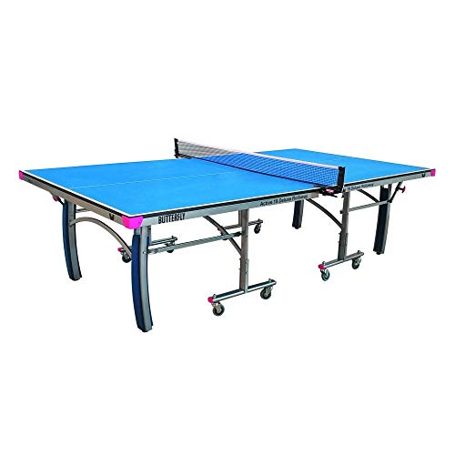 Purchase Butterfly Active 19 Deluxe Indoor Ping Pong Table | Professional Ping Pong Table | Compact Storage Ping Pong Table | 10 Minute Easy Assembly | Foldable Ping Pong Table, Blue