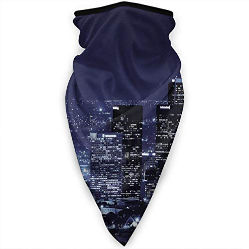 Etryrt Night Scene of The City - Ghetta scaldacollo antivento in tubo morbido elastico senza cuciture, sciarpa per sport all'aria aperta