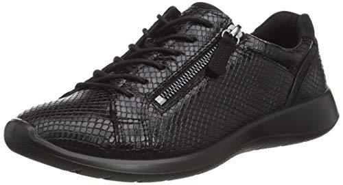 Ecco Soft 5, Zapatillas Mujer, Negro Black/Black