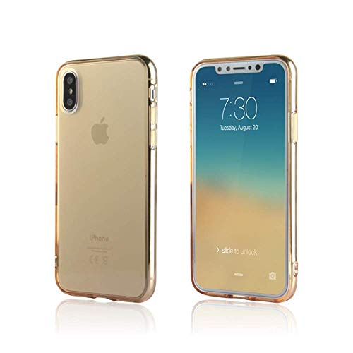 NYCPrimeTech iPhone Xs Max Case/Slim & Soft Transparent Gold Tint Cover for iPhone Xs Max/Soft Flexible & Stylish Case for iPhone Xs Max 6.5 inch (2018 Release) (Gold, XS Max 6.5')