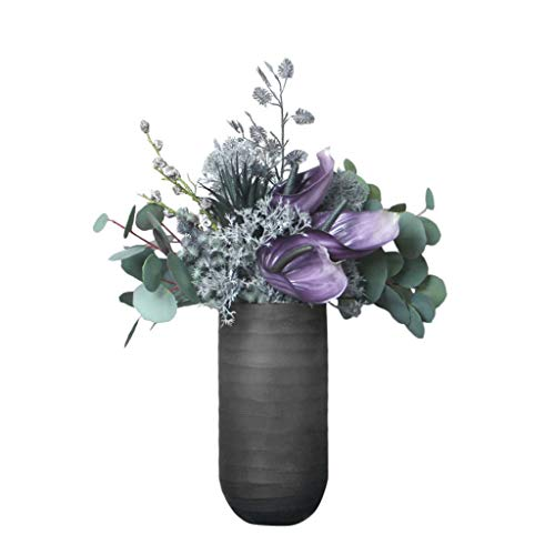Modern Kunstmatige Eucalyptus Bloemen met vaas, Fake Boeketten Decoratie for Wedding thuiskantoor Table Party