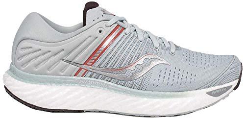 Saucony Women's S10546-45 Triumph 17 Running Shoe, Sky Grey/Coral - 8.5 M US
