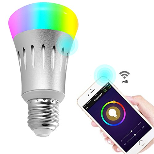 Wifi Led light bulbs,Wallfire 7W E27 Wireless WiFi Remote Control Smart Bulb Lamp Light For Echo Alexa