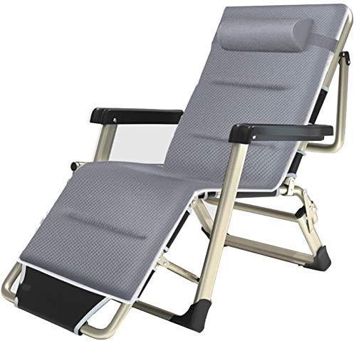WDHWD - Silla reclinable para exteriores, silla con cojín reclinable, silla de jardín, para exterior, mecedora, relax, sillas de tumbona