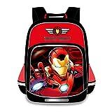 LQ-ZHUOJIAO Mochila para Niños Iron Man Mochila Deportiva Ligera para Niños Mochila Todo En Uno De Gran Capacidad Mochila De Viaje para Niñas,Red-S 30 * 41.5 * 14cm
