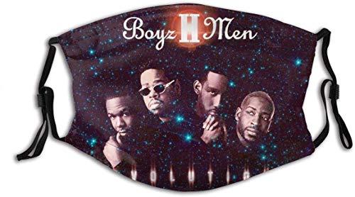 "Balaclava Neck Gaiter Boyz Ii Men Men Women Outdoor Riding Dust Face Cover Mask Mouth Guard Reusable Bandanas Stylish Variety Head Scarf for Sports Black -  ""N/A"", 1"