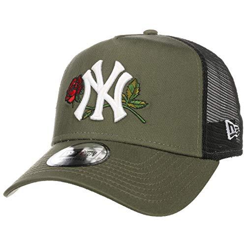 New Era Gorra Trucker MLB Twine York Yankees Verde Oliva-Negro - Ajustable