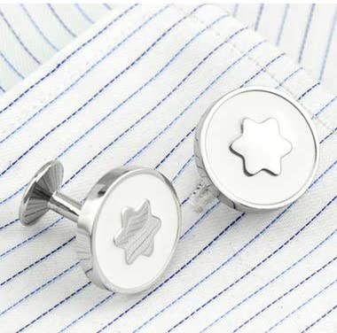 SuoSuo LZWJD FLEXFIL Shirt Cufflinks for Men's Brand Cuff Buttons Cuff Links gemelos Round Wedding abotoaduras Jewelry (Metal Color : 2)