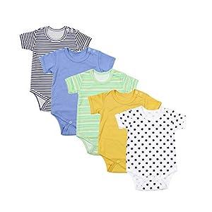 TupTam Body para Bebés Niño Mangas Cortas Paquete de 5, Mix de Colores 7, 74