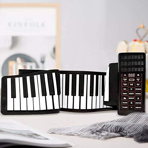 4YANG Teclados de piano electrónicos enrollables, piano portátil de 88 teclas, teclado de piano electrónico compatible con MIDI y Bluetooth, regalos ideales para principiantes adultos niños